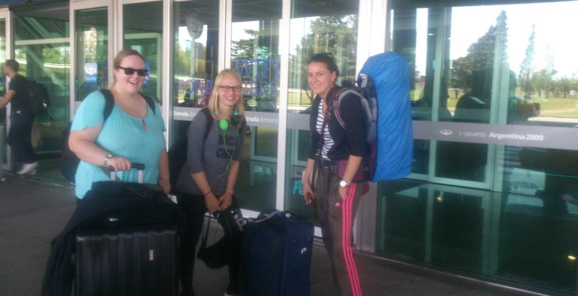 Students arrival at Córdoba